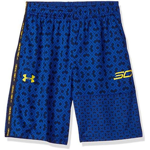 Under Armour Boys' SC30 Novelty Shorts, Royal (400)/Taxi, Youth X-Small