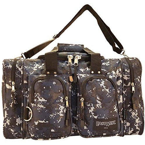 "East West U.S.A Dc3035 35"" Tactical Digital Camouflage Sports Gym Travel Duffle Gear Bag, Navy/Camo"