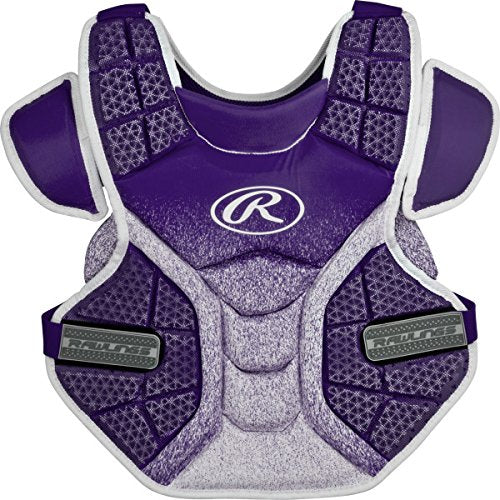 "Rawlings Sporting Goods Softball Protective Velo Chest Protector, 14"", Purple/White"