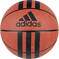 adidas 3 Stripes Rubber Basketball (Natural Orange/Black, 6)