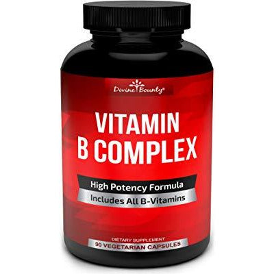 Divine Bounty Super B Complex Vitamins - All B Vitamins Including