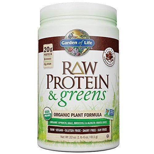 Garden Of Life Greens And Protein Powder With Probiotics - Chocolate 22Oz (1Lb 6Oz/611G) Powder