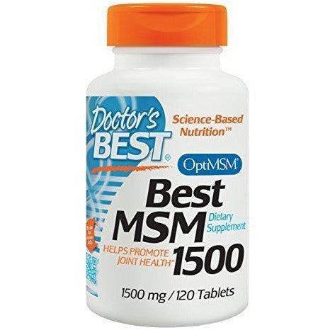 Doctor'S Best Msm With Optimsm, Non-Gmo, Gluten Free, Joint Support, 1500 Mg, 120 Tablets