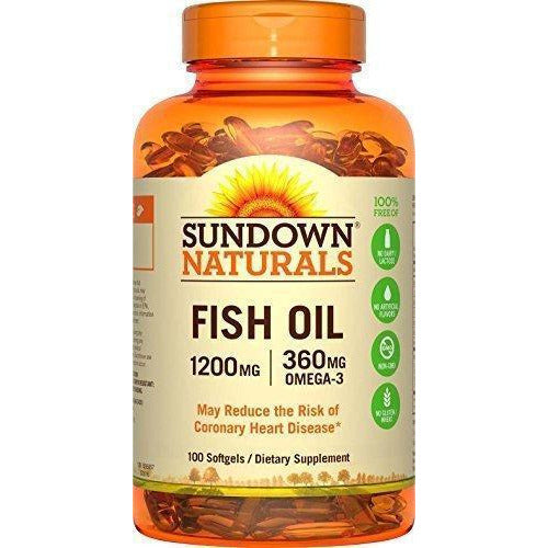 Sundown Naturals Fish Oil Extra Strength 1200 Mg, 100 Softgels