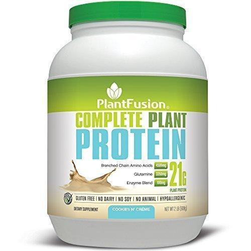 Plantfusion Complete Protein Powder Cookies N Creme No Soy Or Rice 30 Servings 21G Protein 2Lb Tub