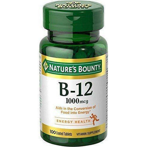 Nature'S Bounty Vitamin B-12 1000 Mcg 100 Coated Tablets Vitamin Supplement