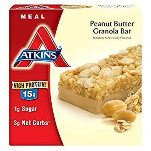 Atkins Advantage Peanut Butter Granola Bar, 1.7 Ounce Bars, 5 Count
