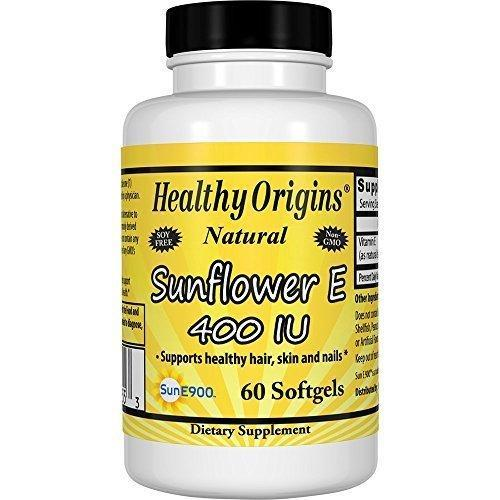 Healthy Origins Sunflower Vitamin E-400 Iu, 60 Softgels
