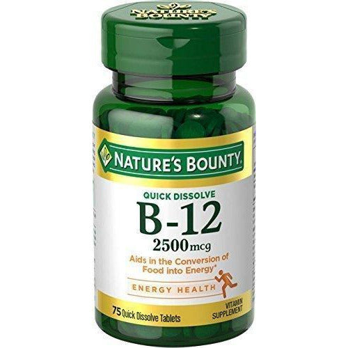 Nature'S Bounty Vitamin B-12 2500 Mcg, 75 Quick Dissolve Tablets