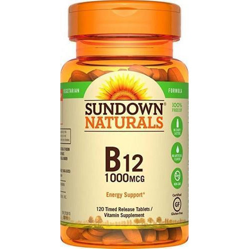 Sundown Naturals Vitamin B-12 1000 Mcg, 120 Time Release Tablets (Pack Of 1)