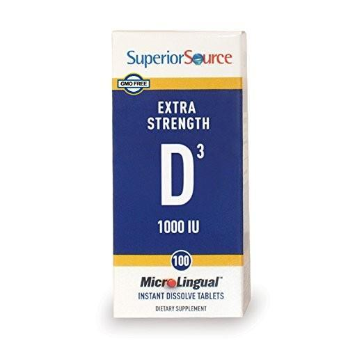 Superior Source Extra Strength Vitamin D3 1,000 Iu Tablet, 100 Count