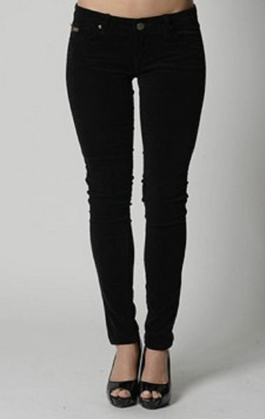 #Cord ,Skinny Stretch Jeans -Black