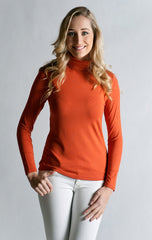 #Skivvy, Long Sleeve, Turtle Neck- RED