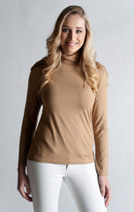 #Skivvy, Long Sleeve, Turtle Neck- BRIQUE ORANGE