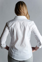 #White Shirt- 3/4 sleeve, fitted at back.