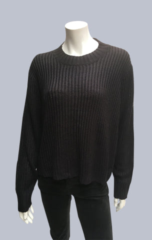 Turtle neck box jumper - Black