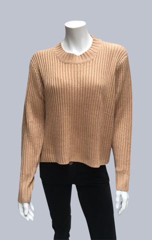 Turtle neck box jumper - Caramel