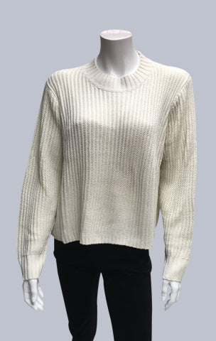 Turtle neck box jumper - Ecru