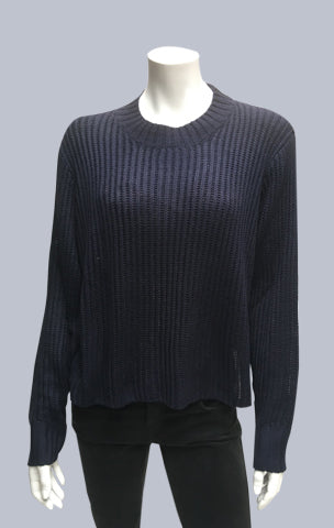 Turtle neck box jumper - Dark Navy