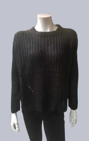 Mohair look alike Jumper - Black