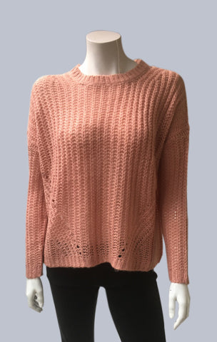 Mohair look alike Jumper - Salmon Pink