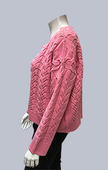#Crop, Cable Box jumper - Pink