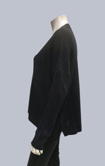 Oversized Box Cardigan - Black