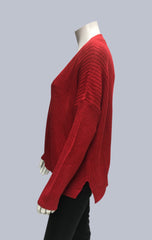 Oversized Box Cardigan - Red