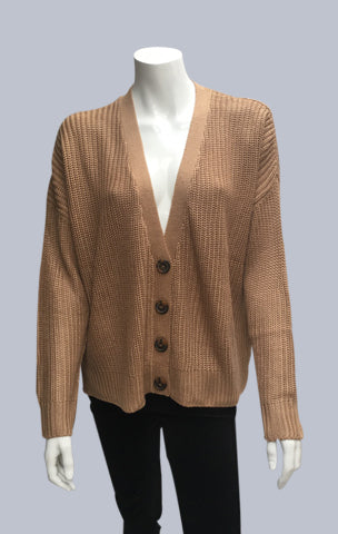 Oversized Box Cardigan - Caramel