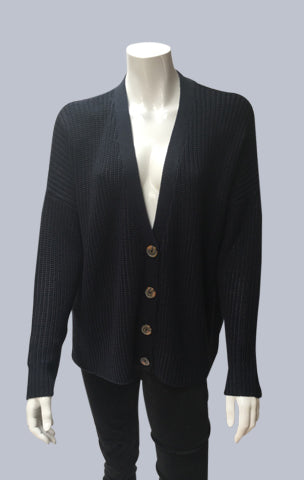 Oversized Box Cardigan - Dark Navy