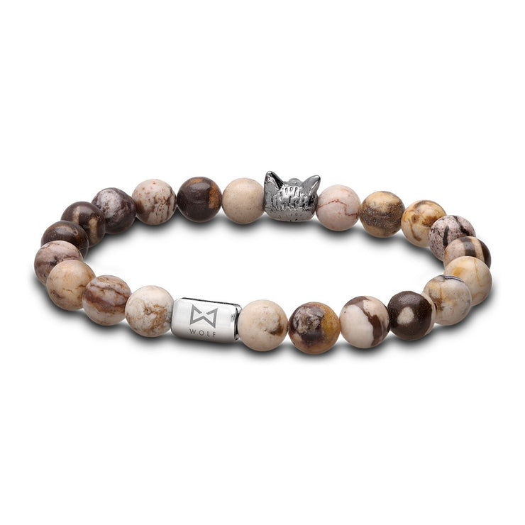 WOLF Men's Bracelet (cappucino)-Wolf Clothing Brand