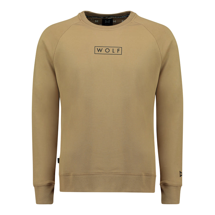 WOLF Sweater Boxed Logo (caramel) - Wolf Clothing Brand