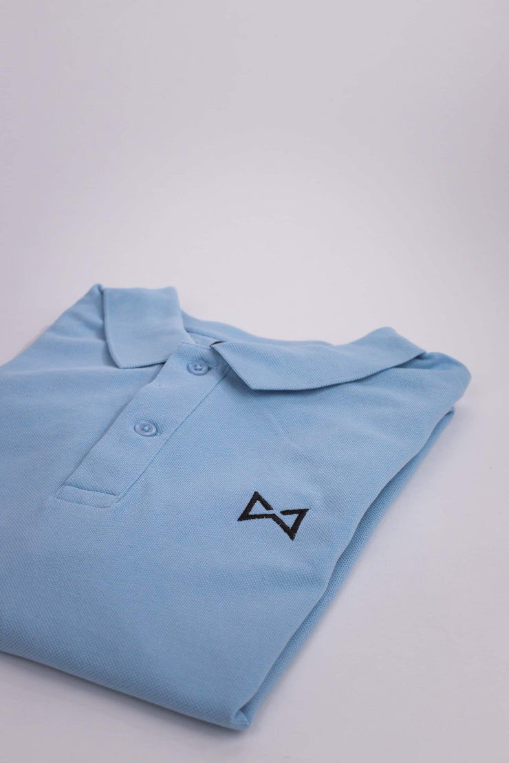 WOLF Polo Shirt (sky blue) - Wolf Clothing Brand