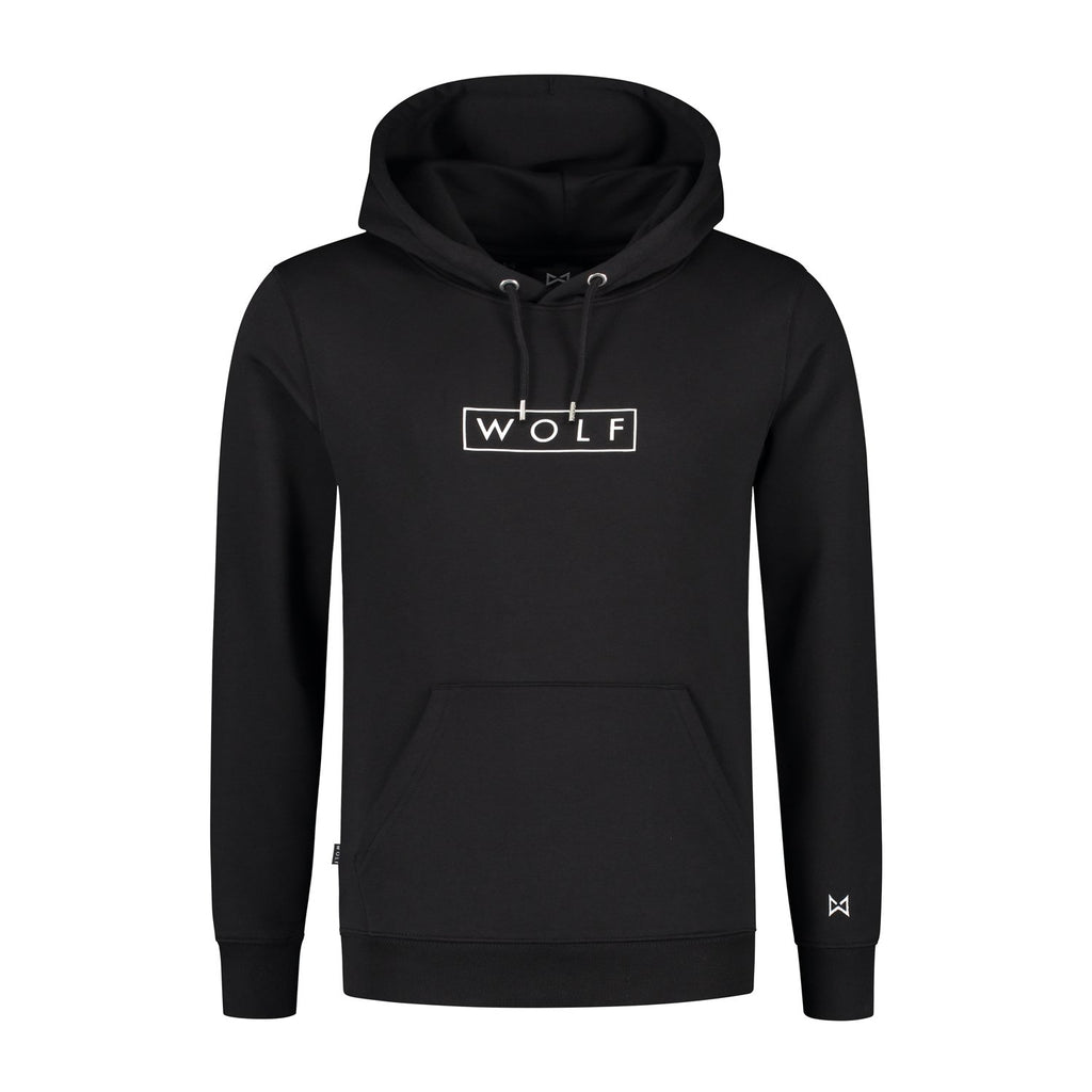 Boxed Hoodie (black) - Wolf Clothing Brand