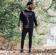 WOLF Quote Sweater (black) - Wolf Clothing Brand
