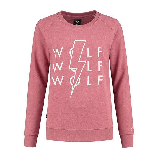 WOLF Lighting Women's Sweater (cranberry pink) - Wolf Clothing Brand