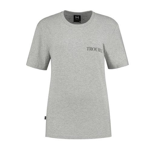 WOLF Women's T-shirt Trouble (grey) - Wolf Clothing Brand