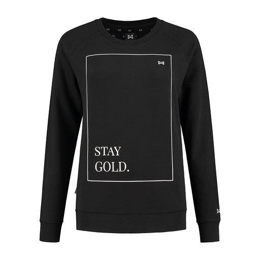 WOLF Stay Gold Sweater (black) - Wolf Clothing Brand