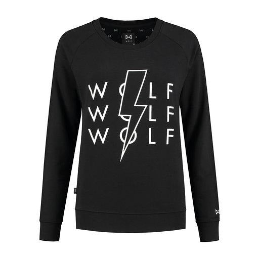 WOLF Lighting Women's Sweater (black) - Wolf Clothing Brand