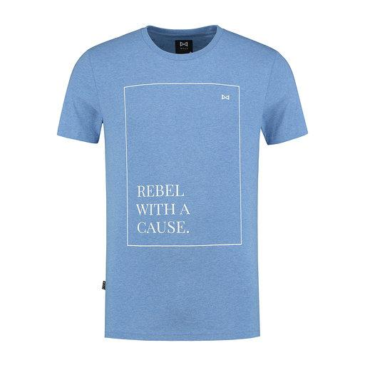 WOLF Rebel T-shirt (heather blue) - Wolf Clothing Brand