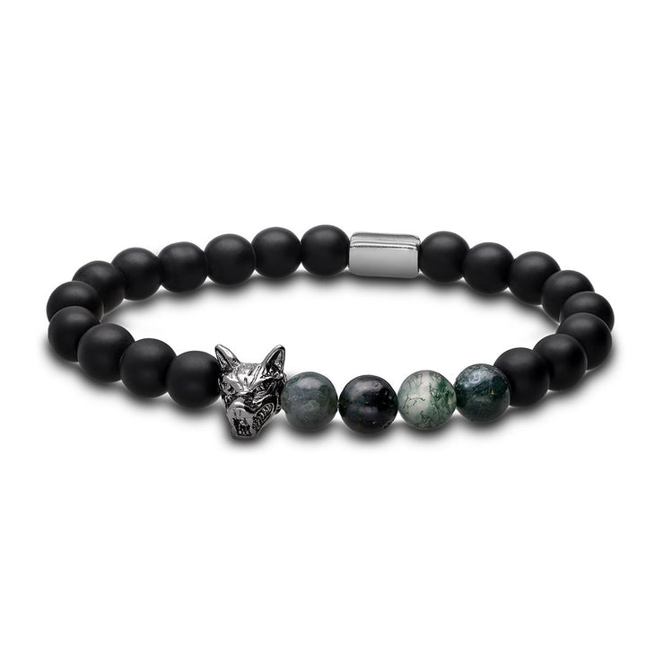 WOLF Men's Bracelet (lava green)-Wolf Clothing Brand