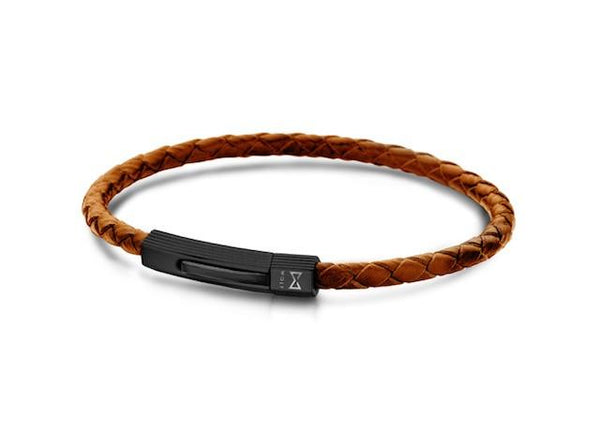 Bracelet leather (brown)-Wolf Clothing Brand