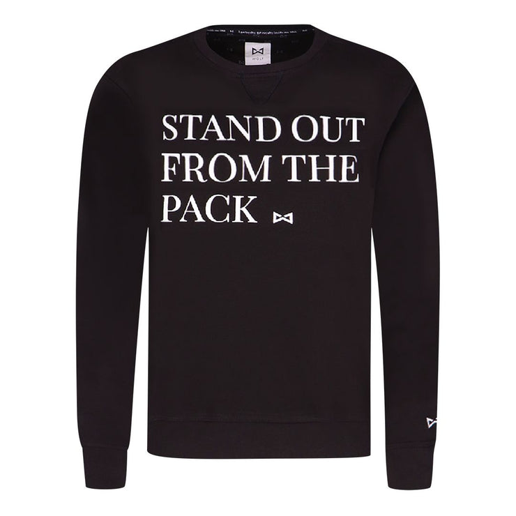 WOLF Quote Sweater (black) - Wolf Clothing Brand Wolf Clothing Brand Wolf Clothing Brand (official)