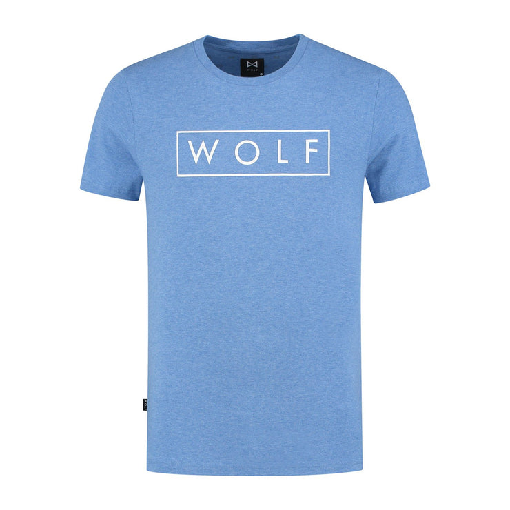 WOLF T-shirt 3D Logo (heather blue) - Wolf Clothing Brand