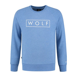 WOLF Sweater 3D (Heather Blue)-Wolf Clothing Brand