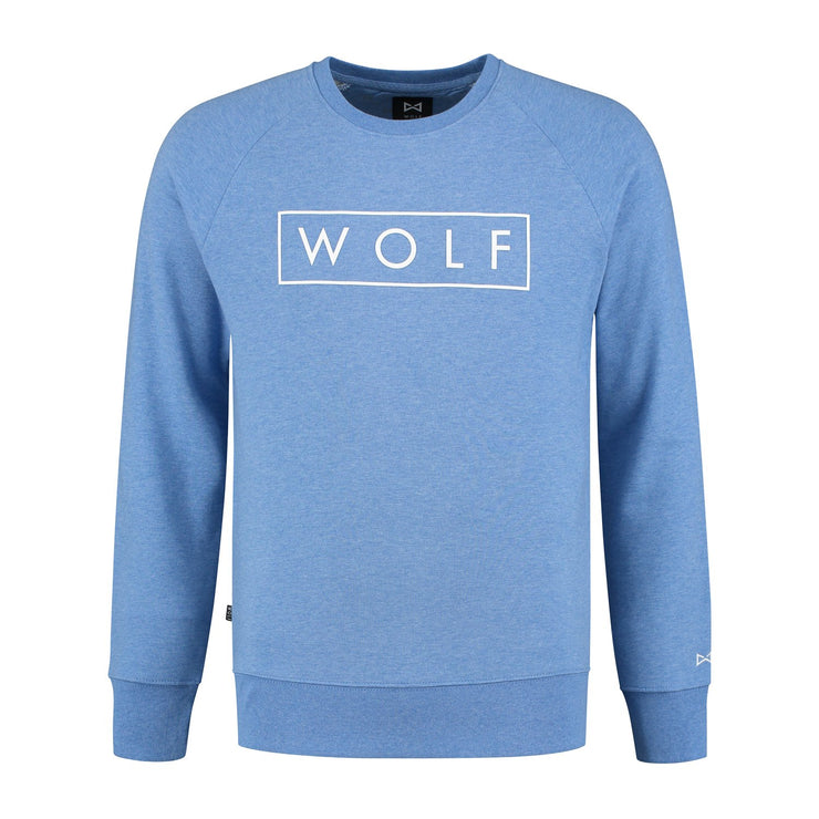 WOLF Sweater 3D Logo (heather blue) - Wolf Clothing Brand