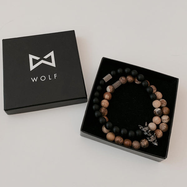 Wolf Bracelet Set (Wood Exclusive)