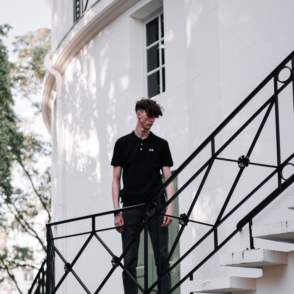 WOLF Polo Shirt 2.0 (black) - Wolf Clothing Brand