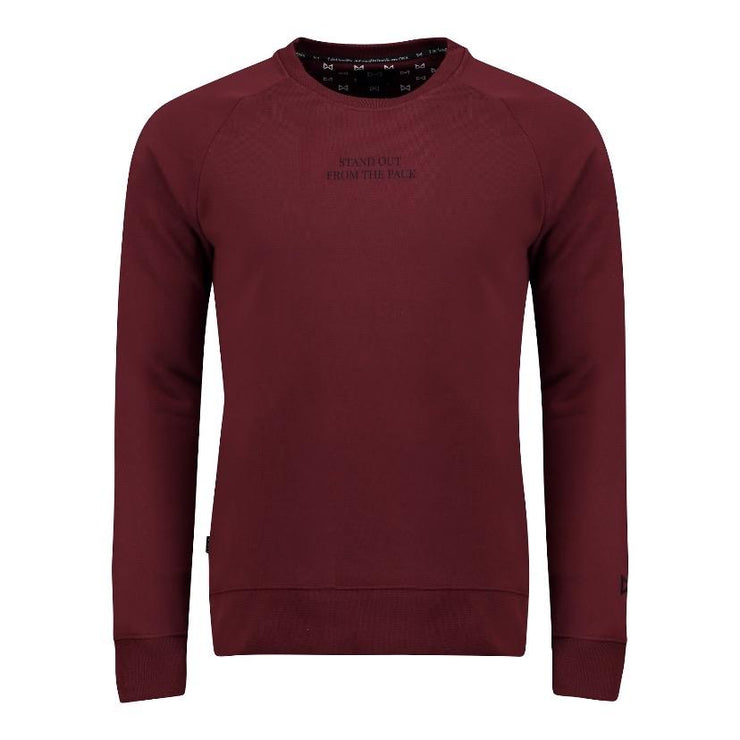 WOLF Stand Out Sweater (burgundy) - Wolf Clothing Brand