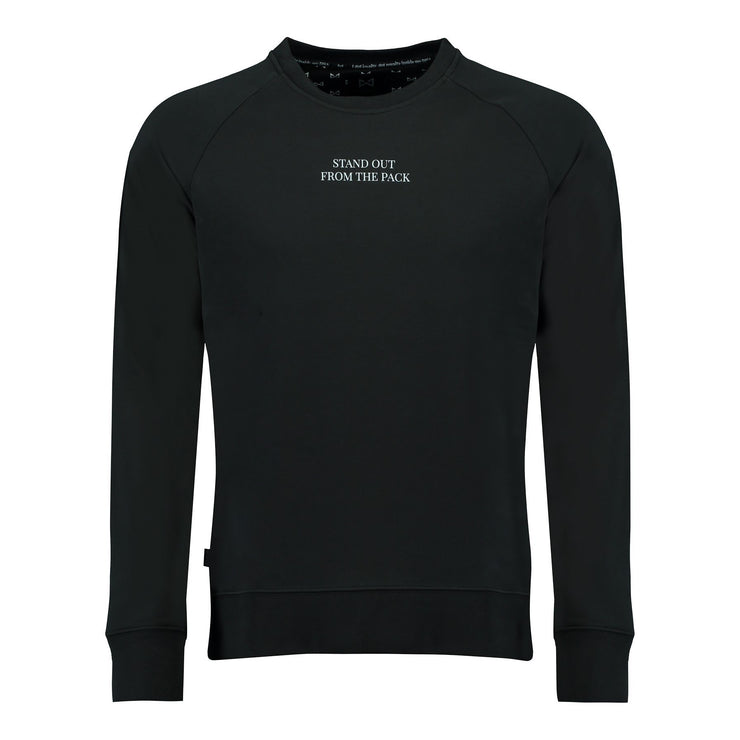 WOLF Stand Out Sweater (black) - Wolf Clothing Brand
